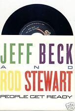 JEFF BECK & ROD STEWART People Get Ready 45/PIC