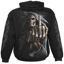Spiral Direct BONE FINGER Hooded,Reaper/Skull/Gothic/Biker/Pullover/Hood/Hoodie