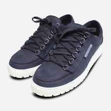 Mephisto Navy Blue Sportbuck Rainbow Shoes for Men