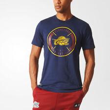 Adidas Cleveland Cavaliers Basketball ClimaLite Baumwolle T-Shirt [Marineblau]