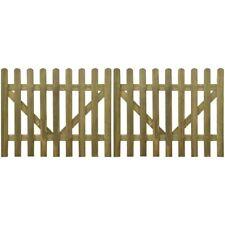 vidaXL 2x Cancello per Recinzione Steccato in Legno Staccionata Misure Diverse