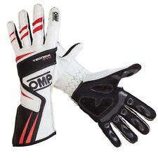 FIA OMP gloves TECNICA EVO rally WHITE/BLACK Sizes XS S M L XL 2018