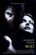 Wolf Jack Nicholson movie poster print