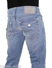 True Religion Men's Ricky Multi Big QT Stitch Vintage Sierra Vista Blue Jeans