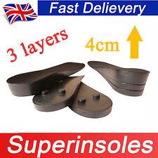 Pie de pleno derecho de altura ajustable aumento elevación del talón del zapato de insertar almohadillas insoles-3 capas