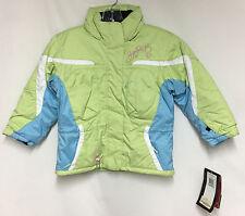 Spyder Girls/Kids Preschool Lola Insulated Snow Ski Winter Jacket Green Blue NEW