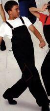 NWT Black HIP HOP COSTUME OVERALLS Lightweight red stitching trim Men's Size