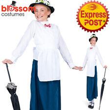 CK1247 Tween Girls Mary Poppins Costume English Nanny Maid Victorian Book Week
