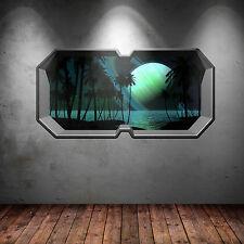 PLANETA DEL ESPACIO ALIEN Ventana Estrellas Multicolor adhesivo pared dormitorio