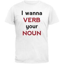 Valentine's Day - I wanna VERB your NOUN Adult Mens T-Shirt