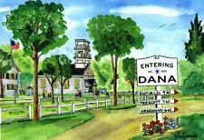 DANA CENTER ART PRINT Quabbin Reservoir Enfield Prescott Greenwich Lost Towns MA