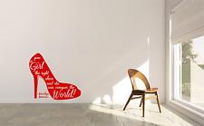 MARILYN MONROE Scarpa conquistare il mondo moderno stanza casa muro decalcomania Sticker W41
