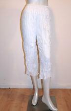 EVERSUN Women's Crushed Jersey 3/4 Pants White Size 10,12,14,16,18,20