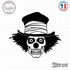 Sticker Tête de Mort Clown Decal Aufkleber Pegatinas D-449 - Couleurs au choix