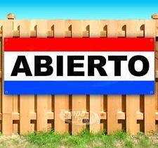 Abierto Advertising Vinyl Banner Flag Sign Open Spanish Car Dealership