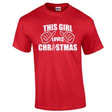 Christmas Shirt This Girl Loves Christmas Shirt Holiday Christmas T Shirt