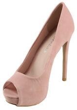 Weeboo Women's Jenifer-01 Peep-toe High Heel Hidden Platform Dress Pumps