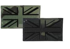 Laser Cut Army Camouflage Union Jack Patch BTP (MTP Match) or Black 85 x 50 mm