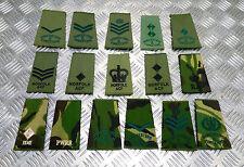 Genuine British Forces Assorted Regiments Rank Slide Camo / Green - Un-issued