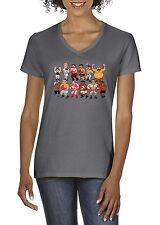"""V-NECK Ladies Classic Nes Nintendo """"8 Bit"""" Mike Tyson's PUNCHOUT  shirt Ladies"""