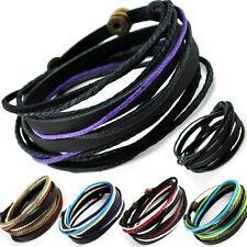 TIBET SERIE 1-BLACK! ECHT LEDER! Wickelarmband  Armband! Surferarmband Bracelet