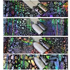 8 X Pegatina de lámina holográfica Transparente Arte en Uñas Manicura Láminas Brillante Navidad