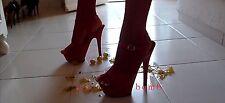 SEXY sandali ROSSI con cinturino plateau TACCO 15 DAL 35 AL 44 fashion GLAMOUR !