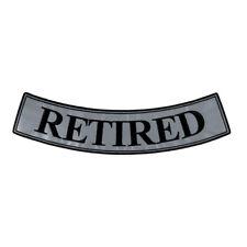 """Biker Vest REFLECTIVE STRIPES 4/"""" x 1-1//4/"""" iron on patch 5749 BB"""