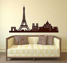 Wall Sticker Vinyl France Paris Eiffel Tower Triumphal Arch Cathedral (n188)