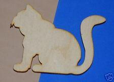 Cat Unfinished Wood Shape Cut Out 2Sc860C Crafts Lindahl WoodCrafts