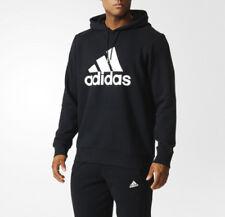 ADIDAS Essentials Herren Hoody Kapuzenpullover Sweatshirt Baumwolle schwarz
