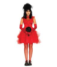 Lydia Deetz Red Dress Women's Costume Beetlejuice Movie Bride Wedding Lidya Goth