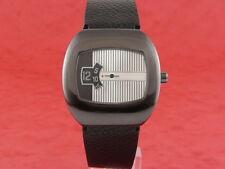 BLACK Traditional Dress Digital Jump Hour 70s led lcd era Vintage Retro Watch
