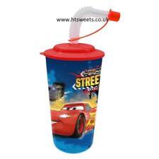 3d Disney cups with lids and straws 20cm x 8cm 500ml 17.5oz, elsa, spiderman