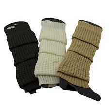 Winter Crochet Warm Ribbed Boot Leg Warmers Knee Length Winter Knit Boot Socks