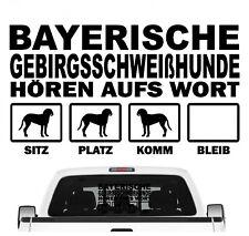 Bayerischer Gebirgsschweißhund BGS Hört aufs Wort Hunde Auto Aufkleber Autoaufkl