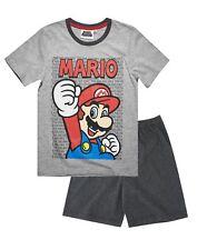 Nintendo Super Mario Bros Schlafanzug Pyjama kurz grau Gr.104,116,128,140,152