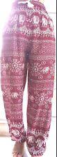 WOMEN /MEN ELEPHANT PANT TROUSER /ELASTIC WAIST&LEGS FIT,/HIPPY BOHO ALADDIN