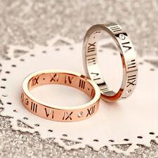 18K White Gold /Rose Gold Filled Men Women's Wedding Engagement CZ Ring Size 4-9