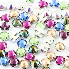 Original SWAROVSKI Rose Montees Kristalle Zacken Set zum Aufnähen * viel Farben