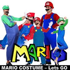 Party Super Mario Brothers Luigi Mens Women Child Fancy Dress Costume Holloween