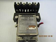 WESTINGHOUSE CONTROL RELAY TYPE N 12-E-4978 12E4978 10A 10 A AMP 600VDC