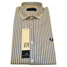 shirt Fred Perry Man Men shirt neck italiano striped slim fit v0044
