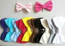 Bow tie slide on collar Plain colours Pet Dog Cat Rabbit bunny Wedding