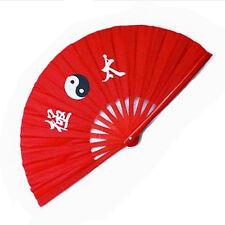 Bamboo Yin Yang Kung Fu Wushu Tai Chi Taichi Chuan Fighting Fans Taffeta Nylon
