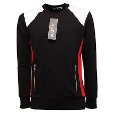 4750Q Felpa garzata uomo nera OUTFIT felpe sweatshirts men