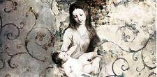 Simon Roux: Madonna and Child-after Van Dyck Keilrahmen-Bild Leinwand religiös