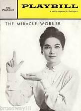 "Suzanne Pleshette ""MIRACLE WORKER"" Patty Duke / James Congdon 1961 Playbill"