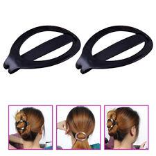 2 pièces femmes en plastique cheveux updo clip bun maker barrette outil de