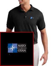 NATO  EMBROIDERED Black Polo Shirt